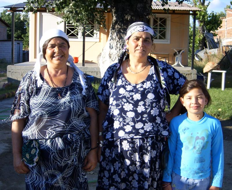 Three generations of Sofades Romani women